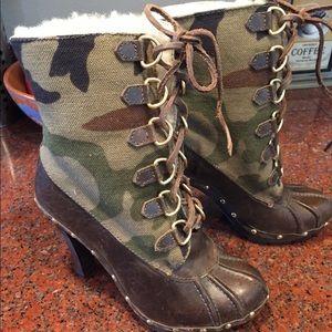 Michael Kors Camo Heel Boots